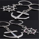 2PCS Fashion Anchor Rudder Pendant Couples KeyChain Keyring Keyfob Lover Gift FT