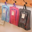 One Portable Travel shoe bag Zip view window Pouch Storage waterproof Organizer