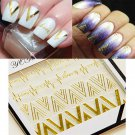 1Sheet Gold V Shape Heartbeat  3D Nail Art Stickers Nail Decals Tips Decoration