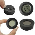 1PC Digital LCD Indoor Outdoor Thermometer Humidity Outdoor Home Office Round FT