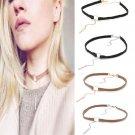 Gothic Velvet Stylish Round Pendant Choker Collar Necklace Chain Charm Jewelry