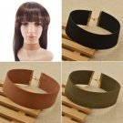 Adjustable Women Leather Choker Gothic Punk Collar Necklace Charm Jewellery Gift
