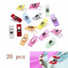 20PCS Lots Plastic Quilter Holding Wonder Clips Sewing Accessories Quilt Binding