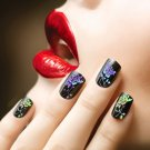 Holo Starry Laser Manicure Nail Foil Rose Flower Nail Art Transfer Sticker DIY