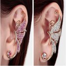 1 PC fashion Butterfly Ear Cuff Clip Party Full Rhinestone Crystal Earrings FT88