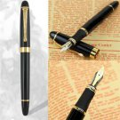 Cool Luxury Jinhao X450 Medium Nib Pens Fountain Pen Black Gold Trim Stainless