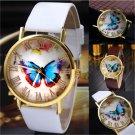 Elegant Womens Ladies Watches Butterfly Leather Strap Analog Quartz Wrist Watch