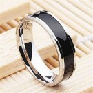 Size 6-12 Fashion Jewelry Black Titanium Band Stainless Steel Ring For Men Women