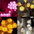 Amazing 20 LED Rose Flower Wedding Party Christmas Decor Xmas String Lights FT25