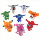 TV Animation Super Wings Transforming Plane Mini Toys Characters kids 8Pcs/SET