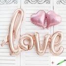 1 Set Love Letters Foil Balloon Fashion Birthday Wedding Party Anniversary Decor
