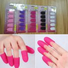 5PCS Silicone Nail Art Soak Off Clip Cap Set UV Gel Polish Remover Wrap Tools FT