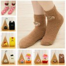 Soft Women Winter Cute Animal Fuzzy Cozy Warm Thicken Ankle Floor Socks Hosiery