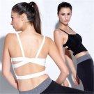 Fashion Women Fitness Yoga Gym Tank Crop Top Stretch Racerback Padded Sports Bra
