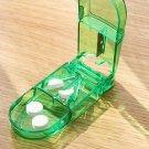 Pill Cutter Splitter Half Storage Compartment Box Medicine Tablet Holder green