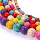 30PCS Wholesale Turquoise Gemstone Round Loose Spacer Beads Jewelry Making 6/8mm