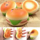 Soft 10CM Sesame Squishy Hamburger Phone Straps Bread Simulation Bun Key Rings