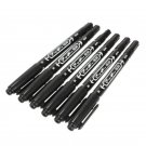 6PCS Lots Tattoo Skin Oily Marking Pen Double Ended Black Fine/Thick Tip Marker