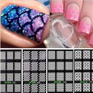 1 Sheet Modish Nail Art Manicure Stencil Stickers Stamping Vinyls Easy Use New