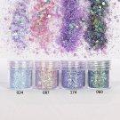 10ml/Box Nail Art Glitter Powder Purple Super Matte Mixed Sequins Decoration FT