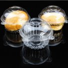 helpful Plastic Single 50pcs Clear Cupcake Muffin Case Pods Domes Cup Cake Boxes