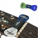 Fashion 1PC Black Guitar HeadStock Pick Holder Rubber + 2Pcs Mixed Guitar Picks