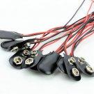 PP3 MN1604 9V 9volt Battery Holder Clip Snap On Connector Cable Lead 10pcs/set