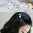 New Fashion Women Girls Crystal Rhinestone Butterfly Barrette Hair Clip Hairpin