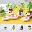 1SET Ceramic Cultivation Peropon Drinking Animal Tougue Self Watering Planter FT