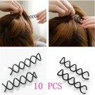 10pcs Helpful Cool Spiral Spin Screw Bobby Pin Black Hair Clip Twist Barrette FT