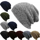 Slouchy Men Women Unisex Knit Baggy Beanie Winter Hat Ski Chic Knitted Cap Skull