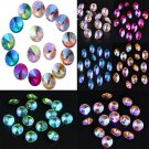 15PCS/bag 14mm Lot Luxury Colorful AB Crystal Glass Fashion Loose Beads DIY FT
