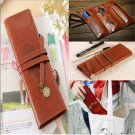 Fashion Retro Pencil Pen Case Cosmetic Pouch Pocket Brush Holder Makeup Bag FT88