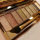 9 Colors Makeup Shimmer Eyeshadow Eye Shadow Palette Cosmetic Brush Set New FT