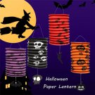 Hanging Halloween Pumpkin Bat Pattern Paper Lantern Party Decorations Yard Decor