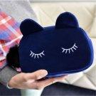 Blue Cosmetic Makeup Bag Case Organizer Zipper Holder Handbag Travel Toiletry FT