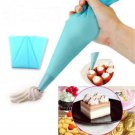Blue Silicone Reusable Icing Piping Cream Pastry Bag Cake Decorating Tool DIY FT