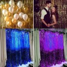 200cm*100cm Metallic Fringe Curtain Party Foil Tinsel Room Decor Door Wholesale