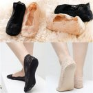 Stylish Cotton Rose Lace Antiskid Invisible Liner No Show Low Cut Socks FT8