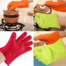 Silicone Gloves For Barbecue Heat Resistant Oven Kitchen Grill BBQ Cooking Mitts