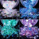 Flakies Fluorescent Glass Paper Nail Glitter Sequins Paillette Nail Art 2PCS FT