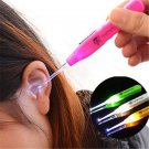 With LED Flashlight Light Useful Ear Pick Wax Remover Cleaner Curette New