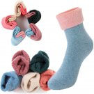 1 Pairs Soft High Quality Women's 80% Sheep Wool Winter Knit Warm Causal Socks