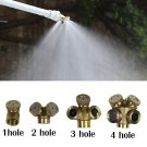 1-4Hole Brass Spray Misting Nozzle Sprinkler Head Garden Farm Irrigation System