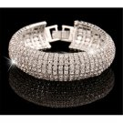 Newest Fashion Charm Women Crystal Rhinestone Cuff Bracelet Bangle Jewelry Gift