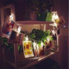 1.2M 10 LED Clip String Lights Battery Powered Christmas Party Photo Decoration