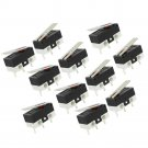 1NO 1NC SPDT Momentary Long Hinge Lever Micro Switches AC 125V 1A 11Pcs/bag