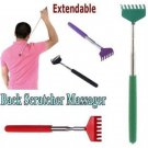 New Grip Metal Back Scratcher Telescopic Extendable Handy Pocket Itching Aid FT