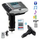FM Transmitter LCD Car Kit MP3 Player Bluetooth Modulator SD MMC USB Remote 1SET