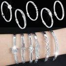 Luxury Women's Jewelry Crystal Rhinestone Love Bracelet Bangle Cuff Charm Gift